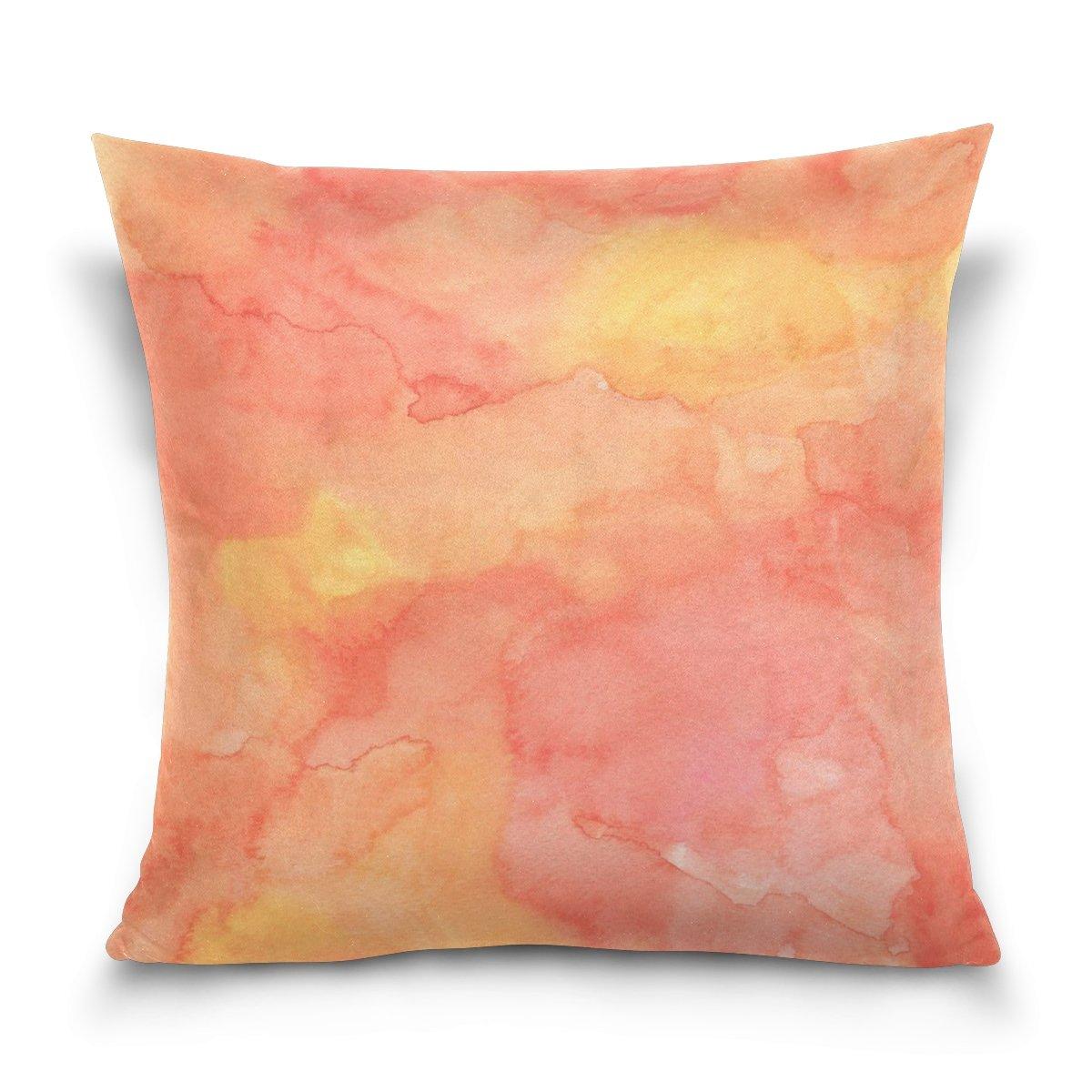 Amazon.com: LEEZONE Cotton Flock Decorative Throw Pillow ...