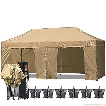 AbcCanopy 10 X 20 Beige Ez Pop up Canopy Tent Commercial Instant Gazebos with 9 Removable  sc 1 st  Amazon.com & Amazon.com : AbcCanopy 10 X 20 Beige Ez Pop up Canopy Tent ...