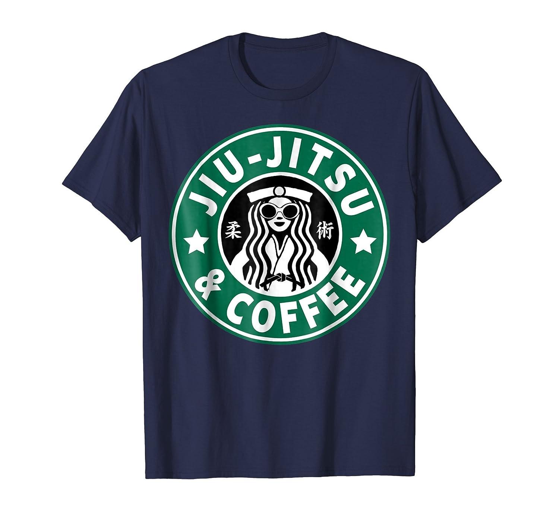 JIU JITSU T SHIRT, JIU JITSU AND COFFEE, BJJ & MMA SHIRT,-Teesml