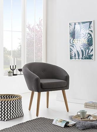 myhomery milo lounge sessel gepolstert polsterstuhl fur esszimmer wohnzimmer vintagesessel mit armlehnen