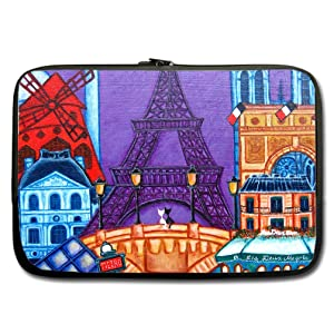 INSTALL AND EASY TO CARRY Wear& Slim &Dapper Paris Custom Custom Neoprene Sleeve for Laptop 10 Inches(Twin sides)