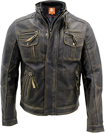 Motorcycle Genuine Leather Jackets Collection Mens Super Cafe Racer Biker Leather Jackets