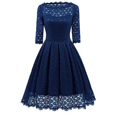 Damen Elegant Chiffonkleid Sommerkleid Partykleid Hochzeit Kleid ...