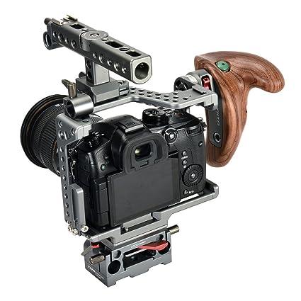 Jaula de cámara para Panasonic GH Series, Mango de Madera 2.0 ...