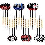 Accmor Steel Tip Darts, Professional Metal Darts, Darts Metal Tip Set, Metal Darts for Dartboard,18 pcs