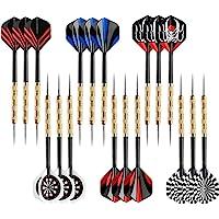 Accmor Steel Tip Darts, Professional Metal Darts, Detachable Steel Darts, 18 pcs
