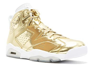 4281bfd14488 Nike Mens Air Jordan 6 Retro Pinnacle Metallic Gold White Leather Size 8