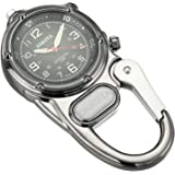 Dakota 3810-0 Mini Clip Microlight Watch, Gunmetal