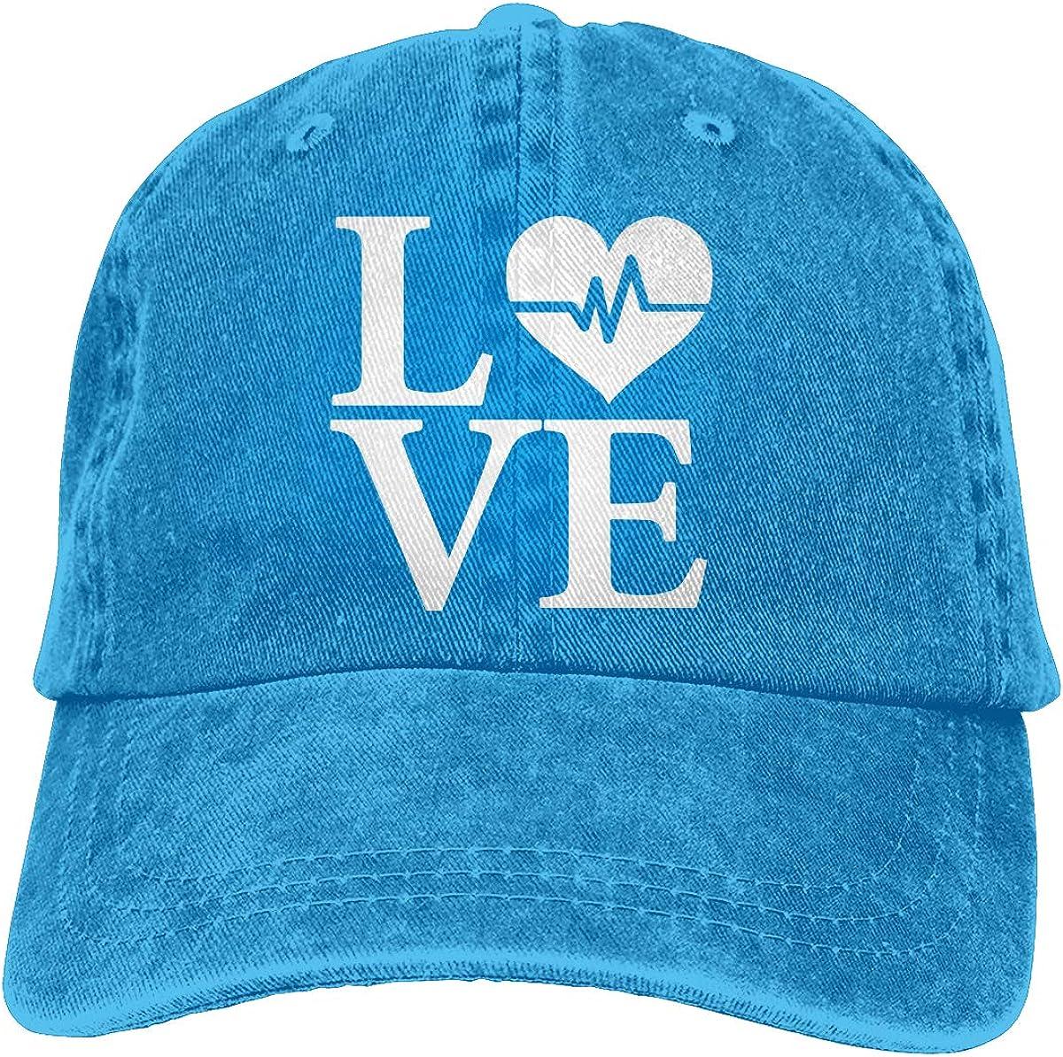 Love Heart 1 Unisex Personalize Cowboy Sun Hat Adjustable Baseball Cap