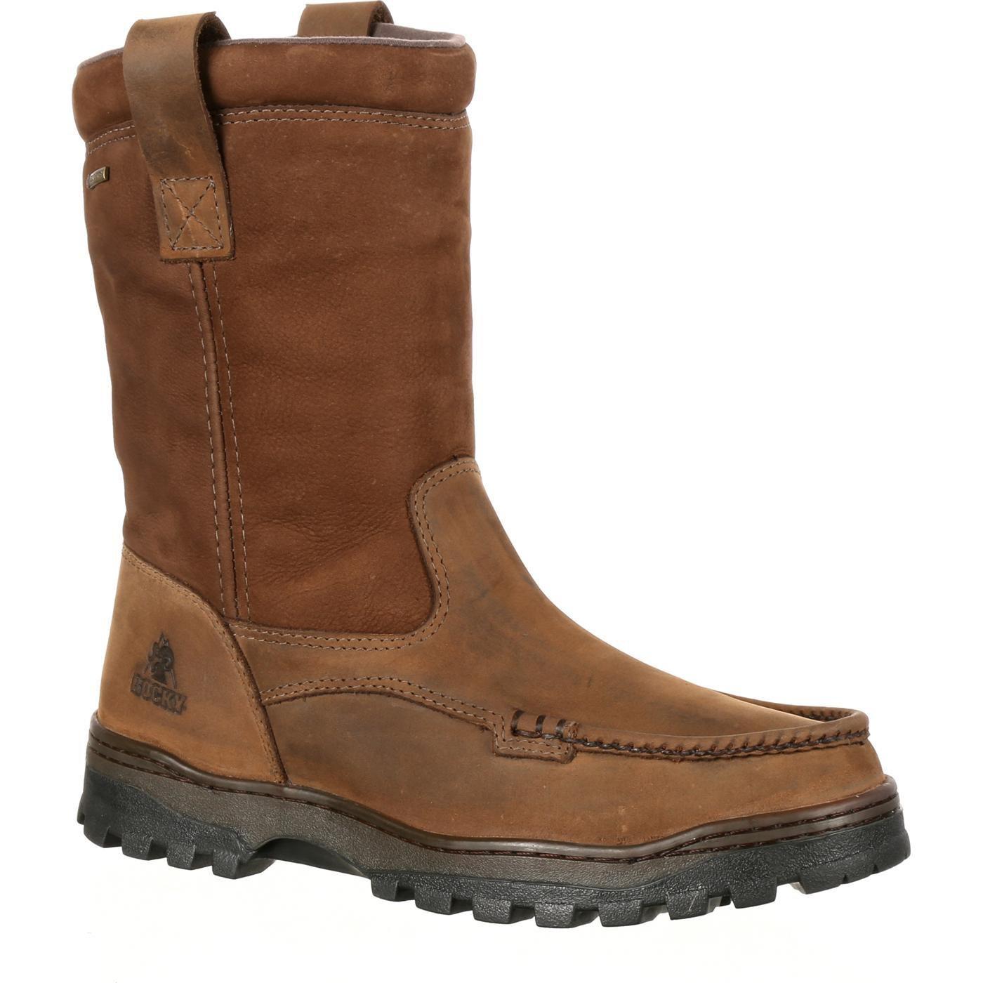 Rocky Men's Outback Waterproof Work Boot Moc Toe Brown 14 EE