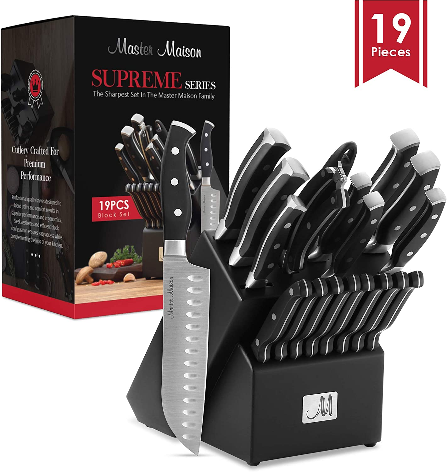 Premium Kitchen Knife Set  - Best selling Amazon Knife Block