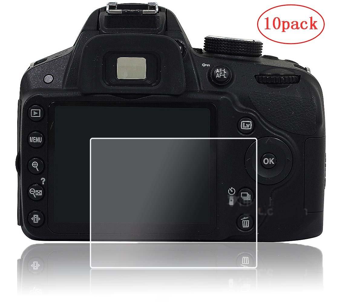 Screen Protector foil for Nikon D3100 D3200 D3300 D3400,PCTC (10 Pack) Tempered Glass anti-scratches anti Dust anti Fingerprint by PCTC