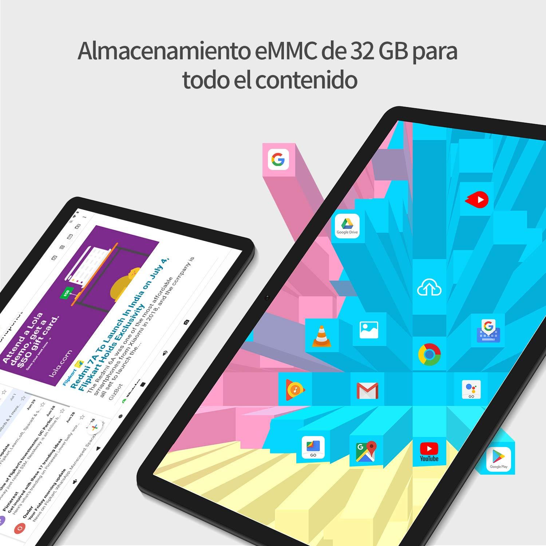 Tablet 10.1 Pulgadas Android 9.0, Vankyo Matrix Pad Z4 Tableta PC con Procesador Quad-Core, 8MP Cámara Trasera, 1280 × 800 IPS Display, WiFi, 2G + ...