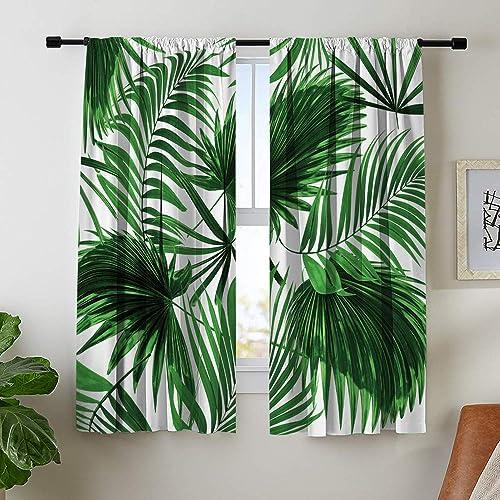 Misscc Decorative Blackout Curtains Window Treatment Drapes