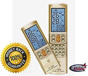 GOLD COLOR AC Remote Control For Carrier, Trane, Toshiba, Sanyo, Mitsubishi, Fujitsu, Hitachi, Haier, LG, York, Midea, Panasonic, Sharp, Samsung, Kelon, Hyundai, Gree, Funai, Daikin, Rowa, Goldstar, Daewoo.