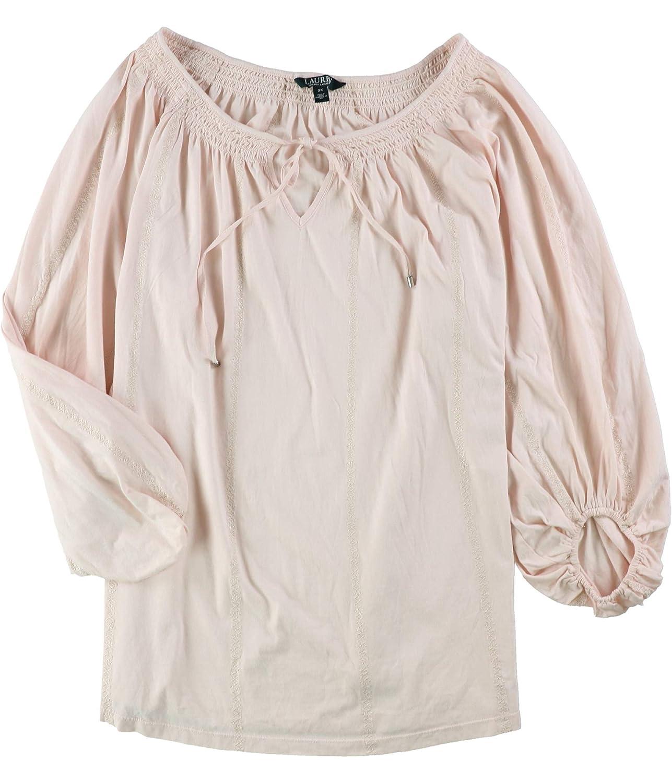 Ralph Lauren Womens Jersey Basic TShirt Pink 3X  Plus Size
