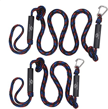 4 ft Mooring Rope 2 Pack Boating Dock Red//Black Details about  / Boat Bungee Dock Lines