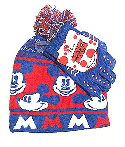 8f0564ca332fe Image Unavailable. Image not available for. Color  Disney Allover Mickey  Mouse Winter Hat Glove Set