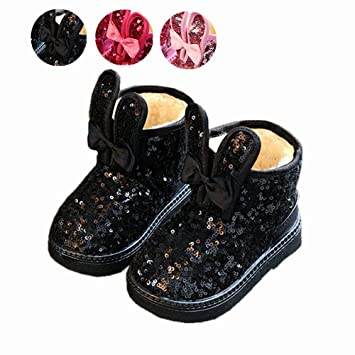 Zapatos De Bebé, Chickwin Lentejuelas Botines Para Niñas Bebé Otoño e Invierno Mantente Caliente e