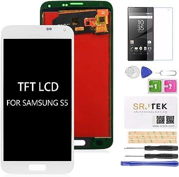 srjtek - Pantalla LCD de repuesto para Samsung Galaxy S5 G900 ...