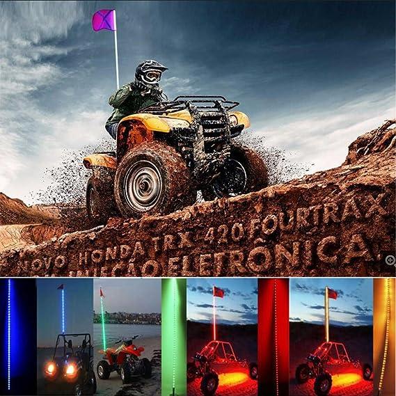 17 W Whip & Bandera de seguridad con luz LED ATV UTV Off Road ...
