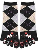 uxcell Women 1 Pack Argyle Cartoon Pattern Crew Toe Socks 9-11