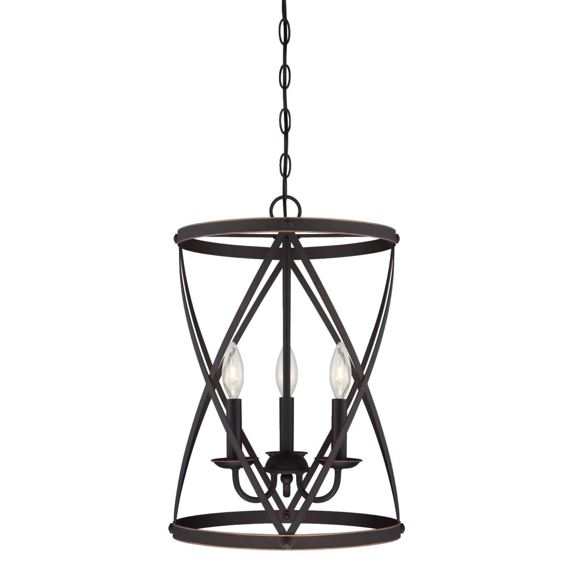 Westinghouse 6303700 Isadora Three-Light Indoor Chandelier, Oil Rubbed Bronze Finish with Highlights by Westinghouse