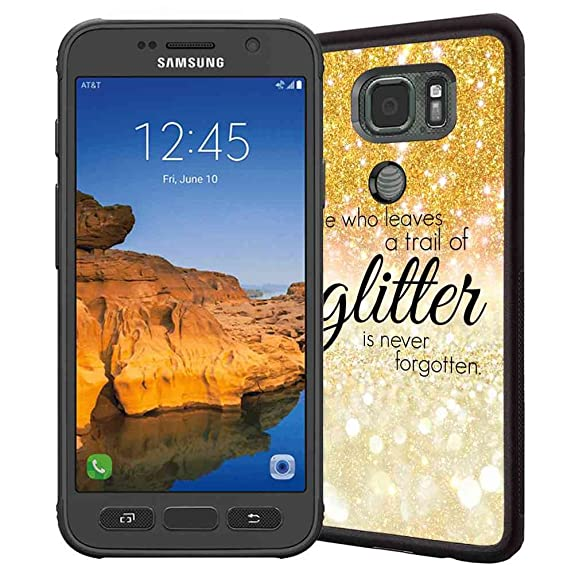 Amazon Galaxy S60 Active Case ABLOOMBOX Gold Sparkle Glitter New Samsung Galaxy S7 Forgot Pattern