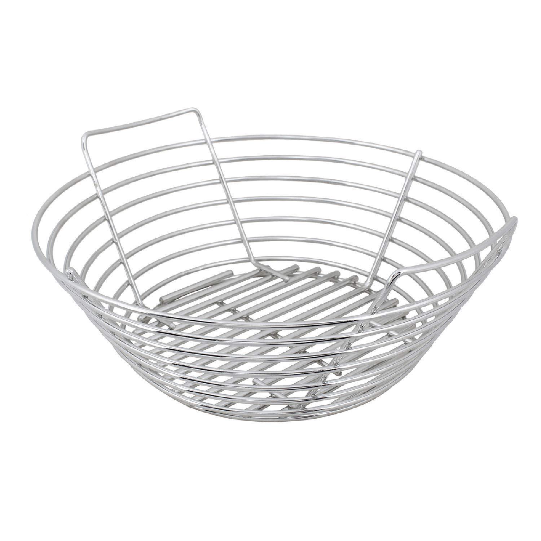 Kick Ash Basket Stainless Steel Charcoal Ash Basket for Big Green Egg Grill - Large by Kick Ash Basket