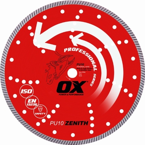 OX Tools 12'' Universal Superfast Diamond Blade | 1 - 20mm Bore by OX Tools