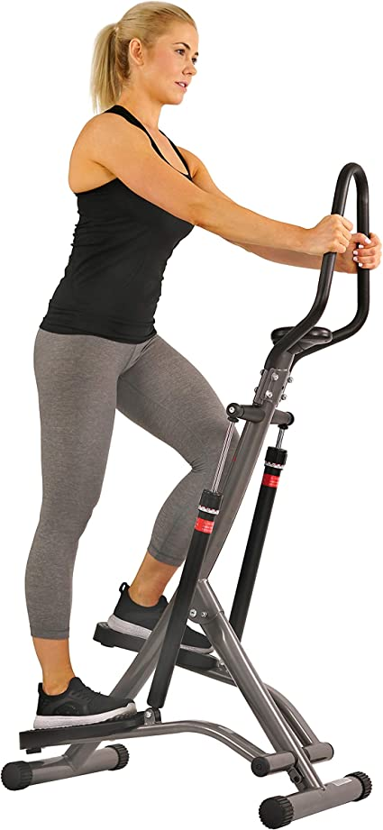 LCD Fitness Workout Exercise Stair Stepper Machine Cardio Equipment w//Handle Bar