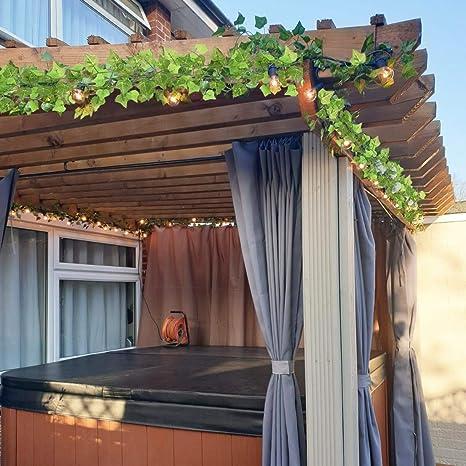 Ivy Falsa, Falsa Hoja de Simulación De Hoja Verde Enredadera de Vid De La Hiedra Verde Deja La Pared de La Boda del Jardín Decoración de La Hoja de La Vid (12