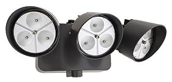 Lithonia Lighting OFLR 9LC 120 P BZ LED Outdoor Floodlight 3 Light Dusk To  Dawn