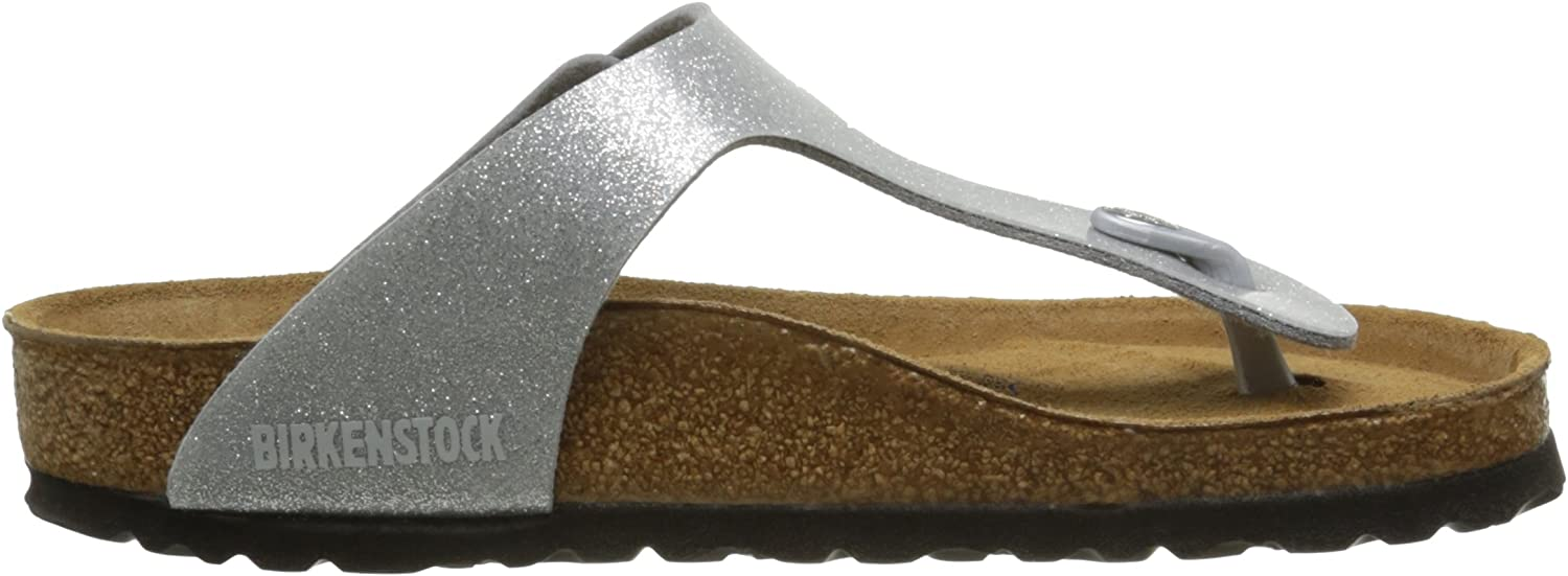 Birkenstock Gizeh Leder Softfootbed, Tongs Mixte Adulte Argent Magic Galaxy Silver Soft Footbed