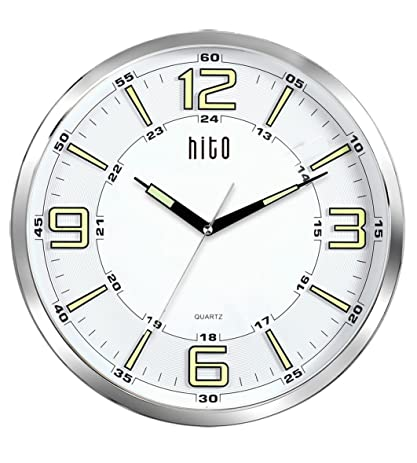 Amazoncom hito Large Silent Nonticking Glowing in the Dark