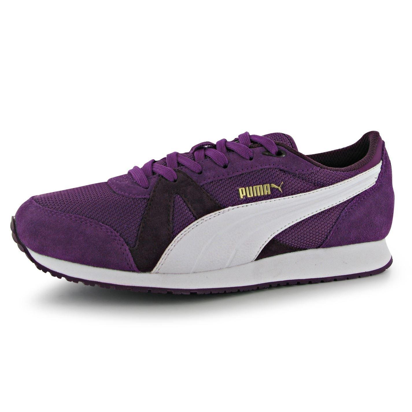 Puma TF Racer Mesh Damen Turnschuhe Sportschuhe Fashion Sneaker Freizeit Schuhe  7 (40.5)|Grape/White