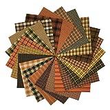 40 Autumn Spice Charm Pack, 5 inch Precut Cotton