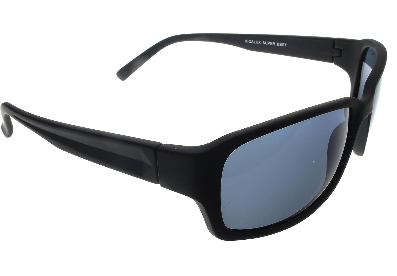 8e71753dde Amazon.com  G G Polarized BBST Big Head XXL Extra Wide 160mm Sunglasses  Black Smoke  Clothing