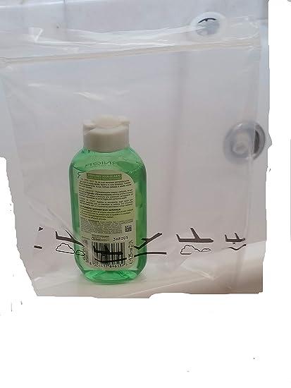 20 bolsas para introducir envases con líquidos en aeropuertos. Poseen un cierre a presión y