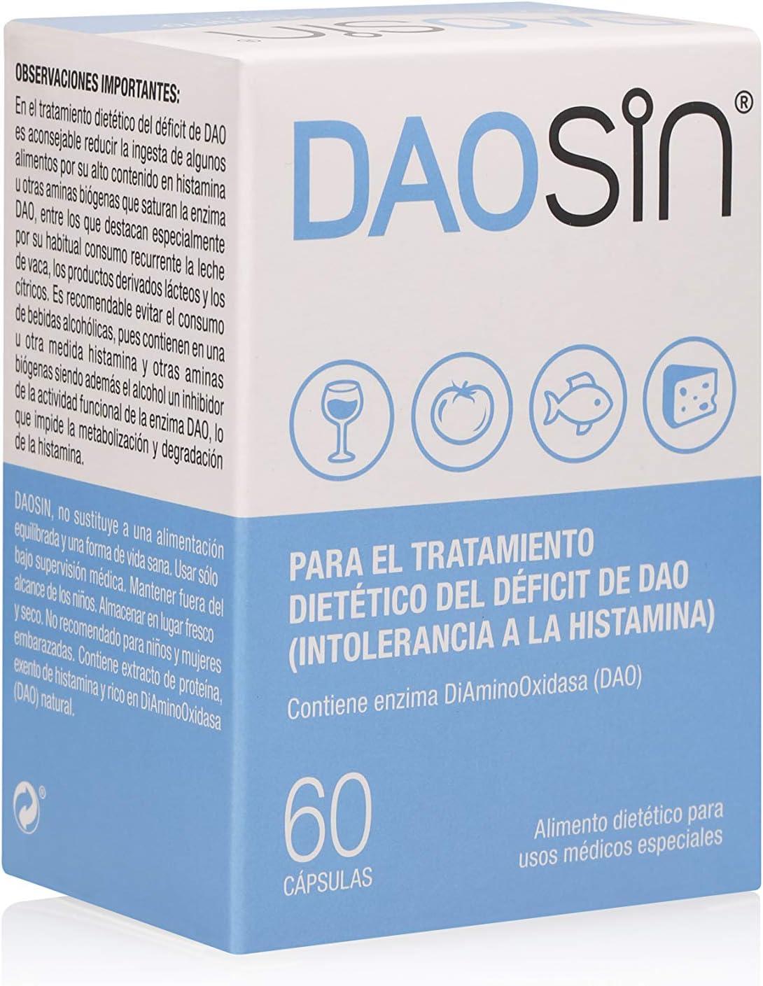 Daosin Comprimidos para el Manejo Dietético del Déficit de DAO - 60 Cápsulas