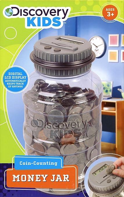 Discovery Kids Coin Counting Money Jar Grey Amazon Com Mx Juegos
