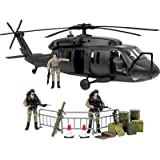 Click N' Play Military Elite Swat Unit Force Patrol Dinghy Boat 25 Piece Play...