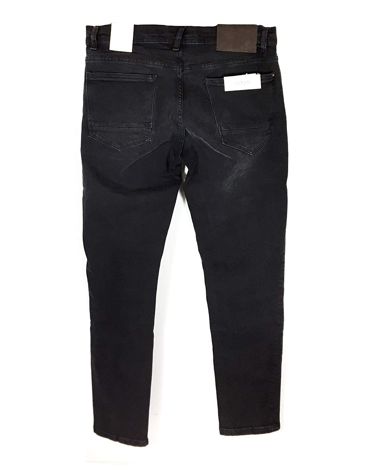 df126c7405 Zara Men's Basic Slim Jeans 5575/380 Black: Amazon.co.uk: Clothing