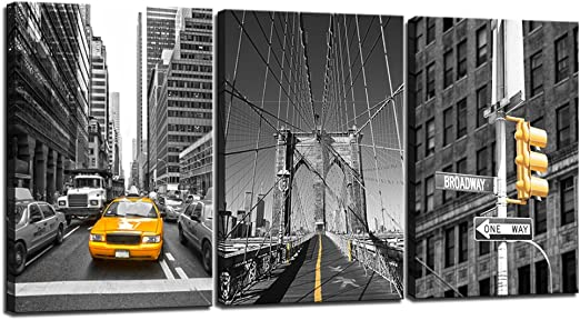 NEW YORK YELLOW CABS CANVAS PICTURE PRINT WALL ART FREE DELIVERY