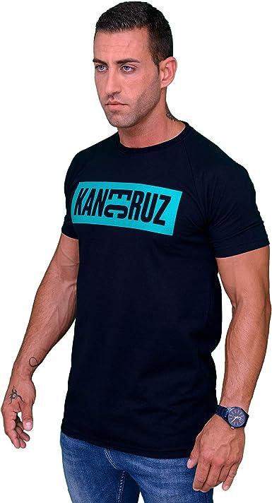 Kane Cruz - Brave Dobel Square Black Turquoise - Camiseta Manga Corta Hombre - Fabricada en España - Moda Urbana: Amazon.es: Ropa y accesorios