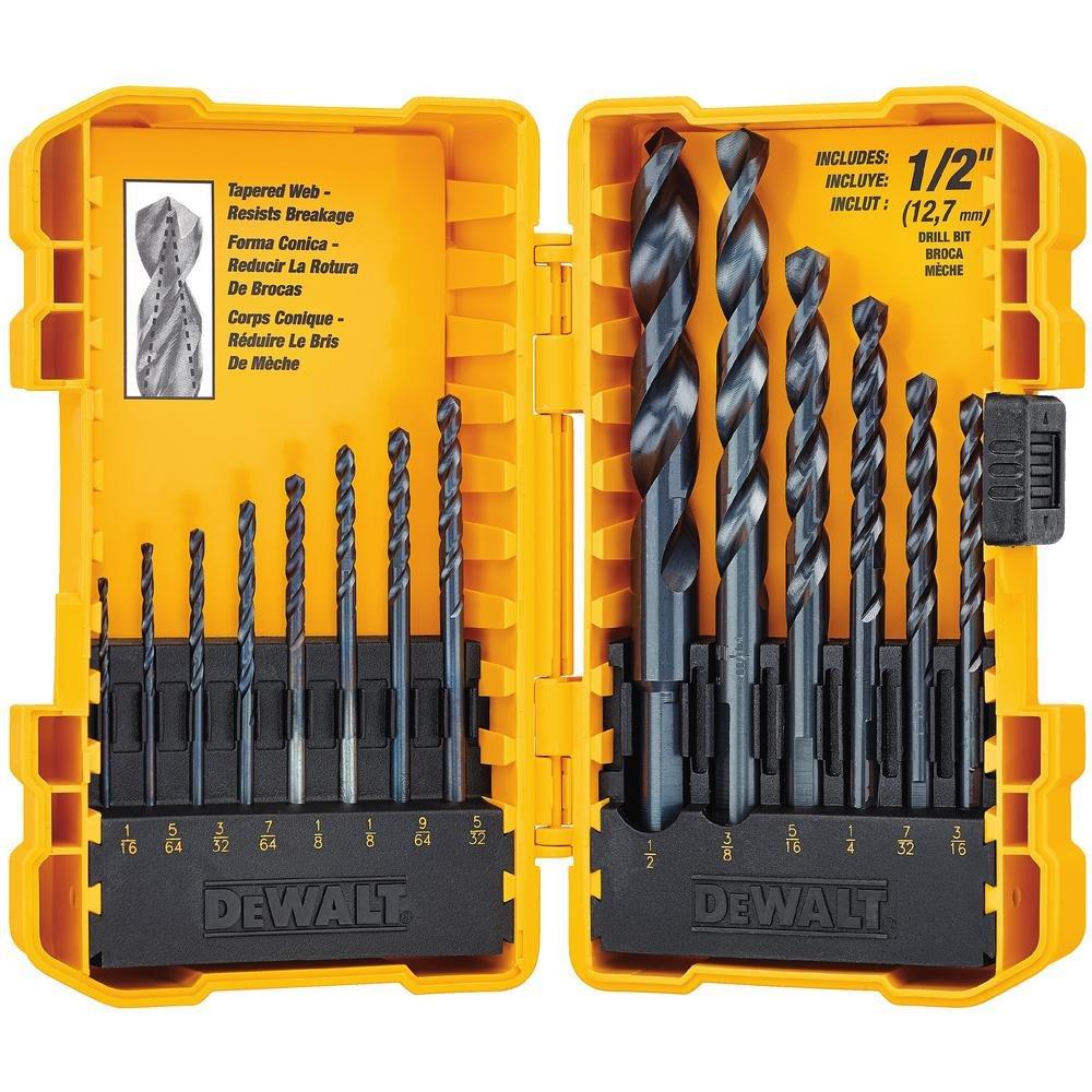 DeWalt. DWA1184 Black oxide drill bit set