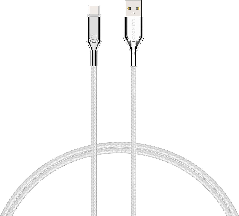 Cable 3.2 ft Cygnett Armoured 2.0 USB-C to USB-C 5AMP//100W 1M - Black