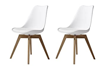 TENZO 3317 - 454 Bess - Set di 2 sedie design in plastica con seduta ...