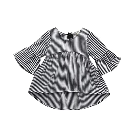 c610c64f1 Goodlock Toddler Kids Infant Fashion Dress Baby Girls Clothes Stripe  Princess Tops Outfits Dress (Size
