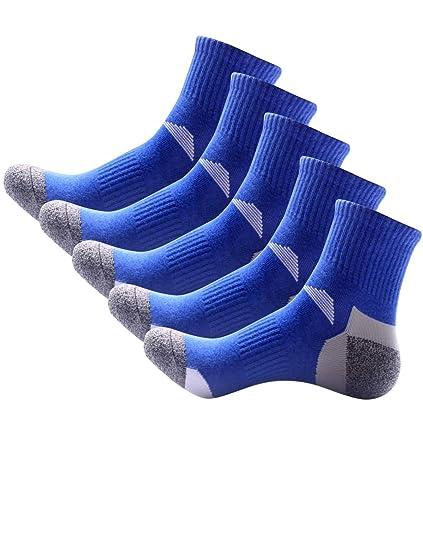 Pinkpum Calcetines Deportivos Hombre de algodón Cómodo y Transpirable Pack 5 Azul: Amazon.es: Ropa y accesorios